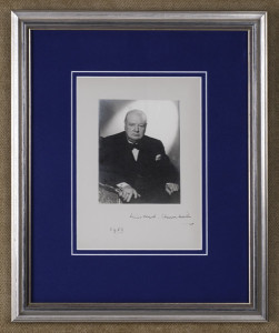 Winston Churchill letters for sale from K W Rendell Gallery