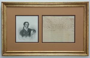 Carl Maria von Weber letters for sale from K W Rendell Gallery