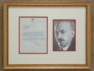 Chaim Weizmann letters for sale from K W Rendell Gallery