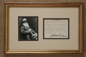 Walt Whitman letters for sale from K W Rendell Gallery